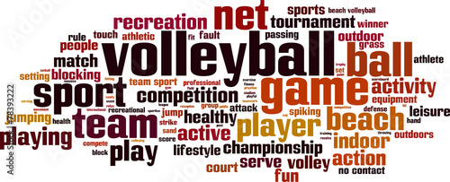 Volleyball word cloud concept. Vector illustration - 78393222