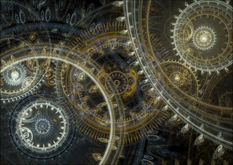 Panel Szklany Fantasy steampunk design