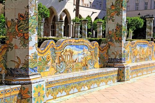Napoli; Monastero di santa Chiara, chiostro