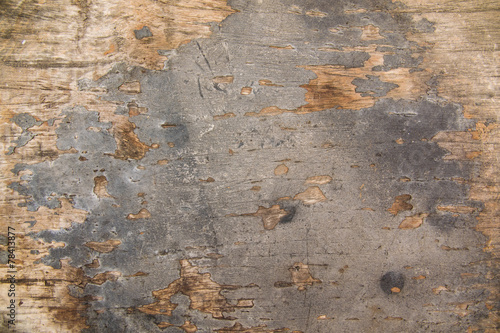 Deurstickers Oude vuile getextureerde muur natural old wood background