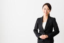 Asian Businesswoman On White B...