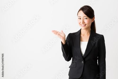Fotografía  asian businesswoman on white backgroound