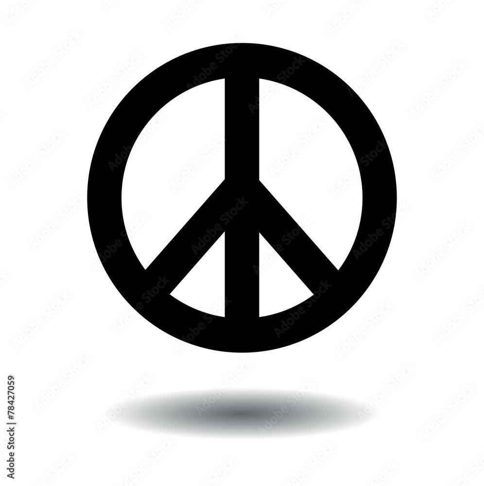 Foto  Peace sign black