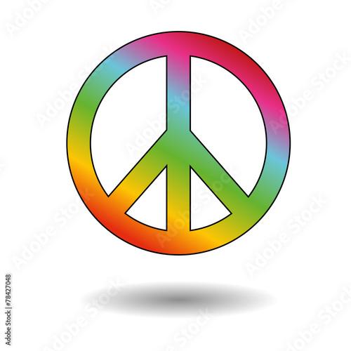 Foto  Peace sign colors