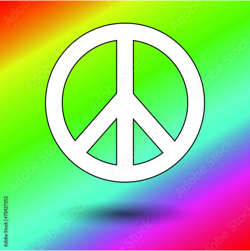 Peace sign color background Canvas