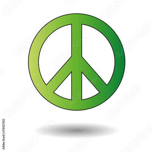 Peace sign green Canvas