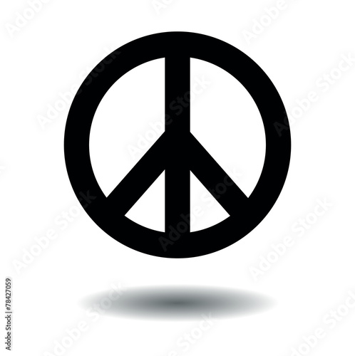 Foto  Peace sign black