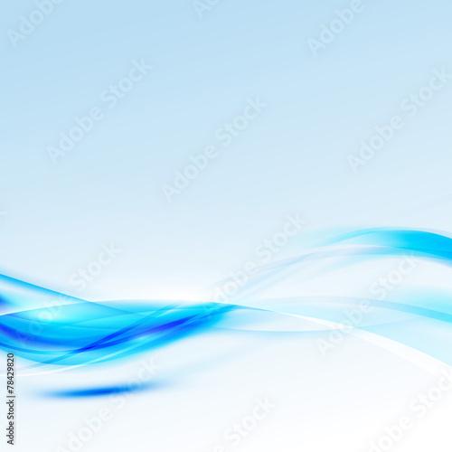 Fotobehang Fractal waves Modern abstract bright sparkle blue swoosh background