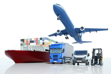 Fototapeta Transport und Logistik bei Spedition