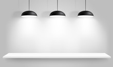Black Ceiling Lamps. Vector