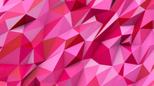 Red Pink Abstract Triangles Poly Colors Geometric Background