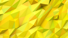 Yellow Green Abstract Triangles Poly Colors Geometric Background