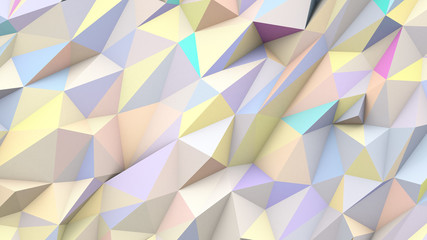 FototapetaPastel abstract triangles poly colors geometric background