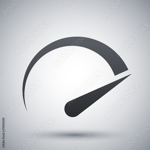 Fotografía  Speedometer icon, vector