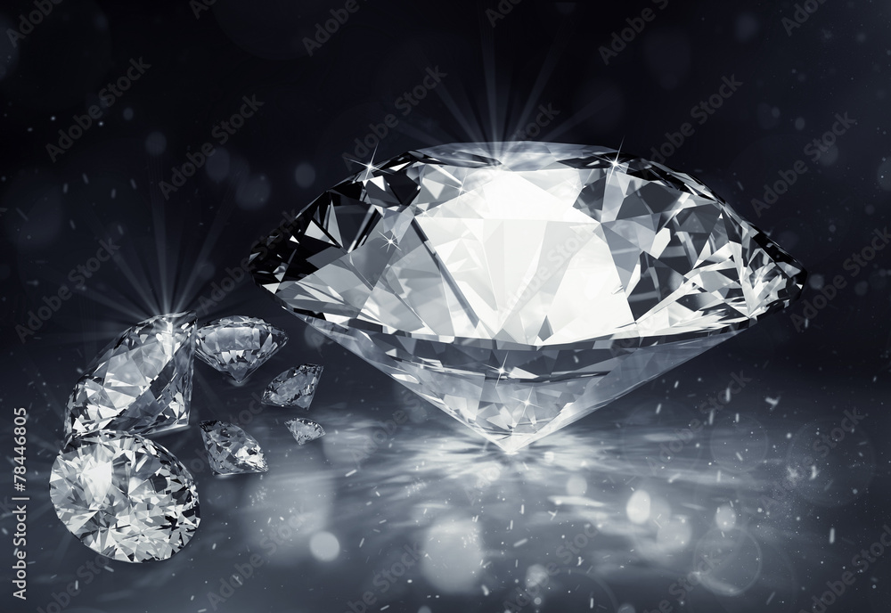 Fototapeta diamonds on dark background