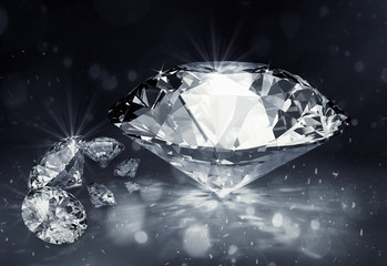 diamenty na ciemnym tle