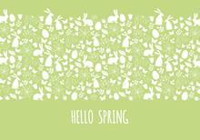 Hello Spring, Easter Banner, V...