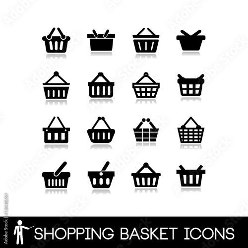 Fotografija  Shopping basket icons.