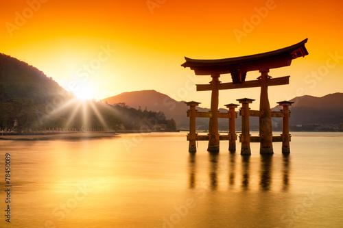 Torii in Miyajima Japan