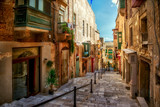 Street of Valletta town - 78455480