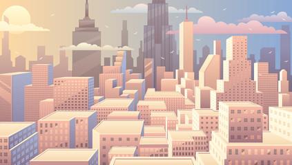 Naklejka Cityscape Sunrise