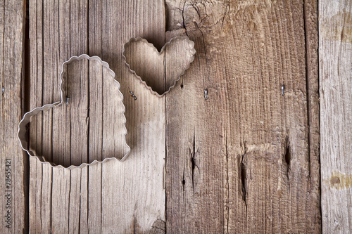 Photo  Metal heart shaped cookie cutter