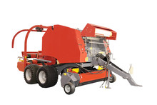 Agricultural Round Baler  Isolated Under The White Background