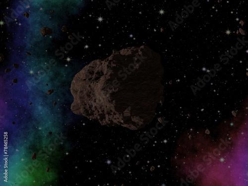 asteroida-w-kosmosie