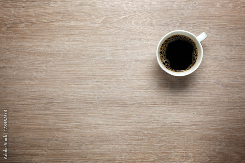 Cup of coffee on desk