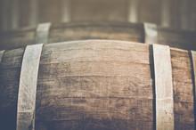Wine Barrel With Vintage Insta...