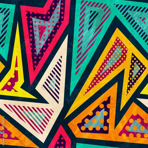 Poster Graffiti hipster geometric seamless pattern