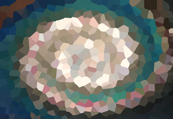 NaklejkaColorful Twist low poly wave Abstract art