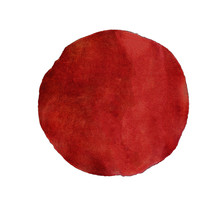 Abstract Red Watercolor Painted Circle