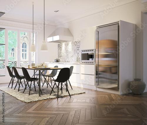 Küche Mit Esstisch In Altbau Wohnung
