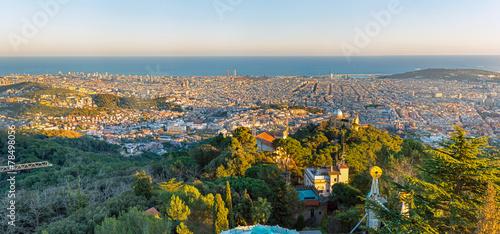 Panorama of Barcelona seen from Mount Tibidabo - 78498056