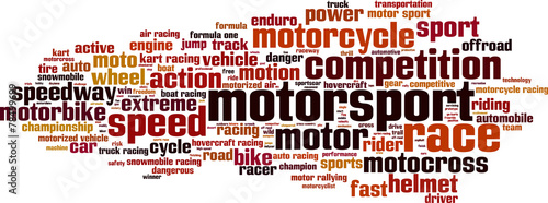 Motorsport word cloud concept. Vector illustration - 78499699