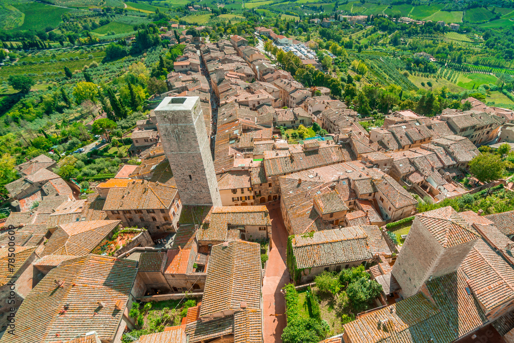 Fototapety, obrazy: San Gimignano, Toskania, Włochy