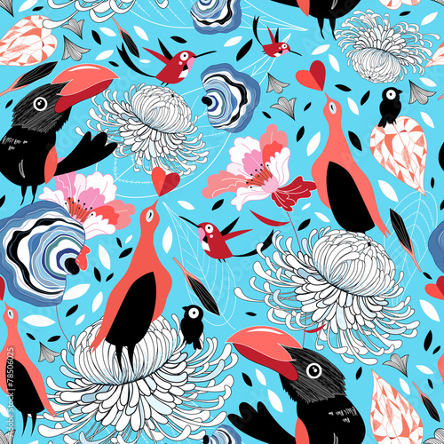abstrakcyjna-tekstura-w-ptaki