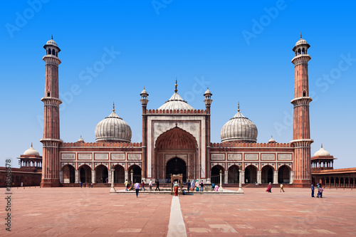 La pose en embrasure Delhi Jama Masjid