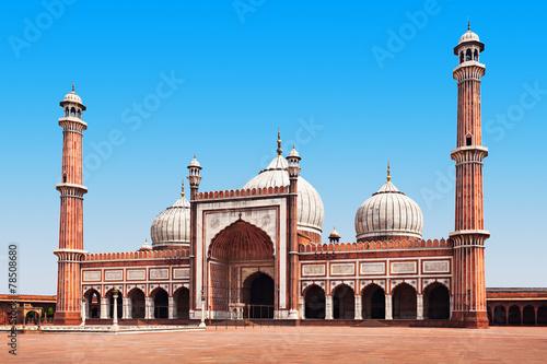 Stickers pour porte Delhi Jama Masjid