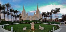 San Diego Temple Of The Church Of Jesus Christ Of LDS Mormon