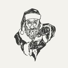 Illustration Of Crime Santa Cl...