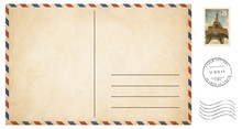 Old Blank Postcard Isolated On...