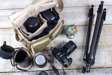 Photographer Camera Bag And Tr...