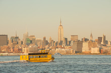 Yellow Water Taxi To Midtown Manhattan Across Hudson River
