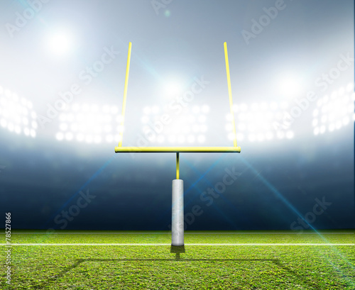 Poster de jardin Stade de football Football Stadium Night
