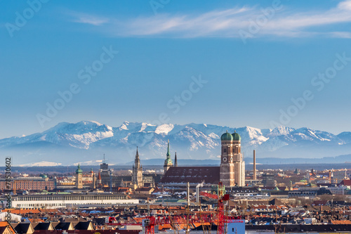 Canvas Prints Alps München Panorma