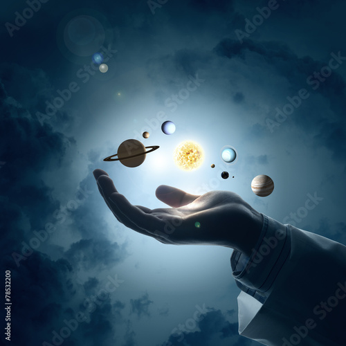 Poster Pleine lune Sun system