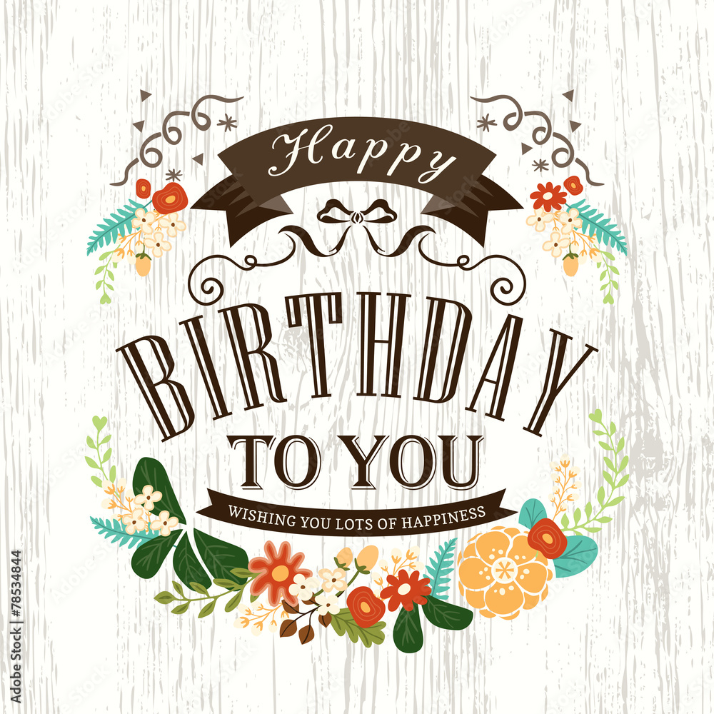 Cute Happy Birthday Card Design Foto Poster Wandbilder Bei Europosters