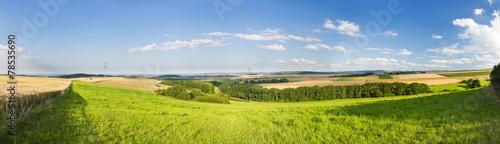 Fotografia  Eifel Summer Landscape Panorama, Germany